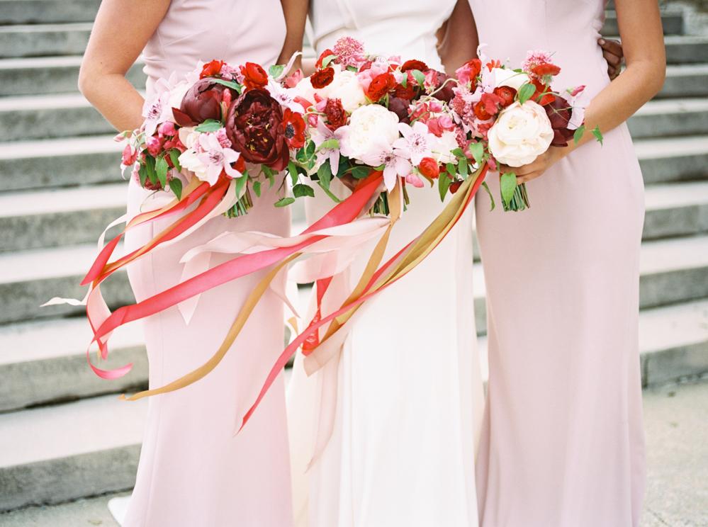 Bridesmaids at the Biltmore Estate in Asheville