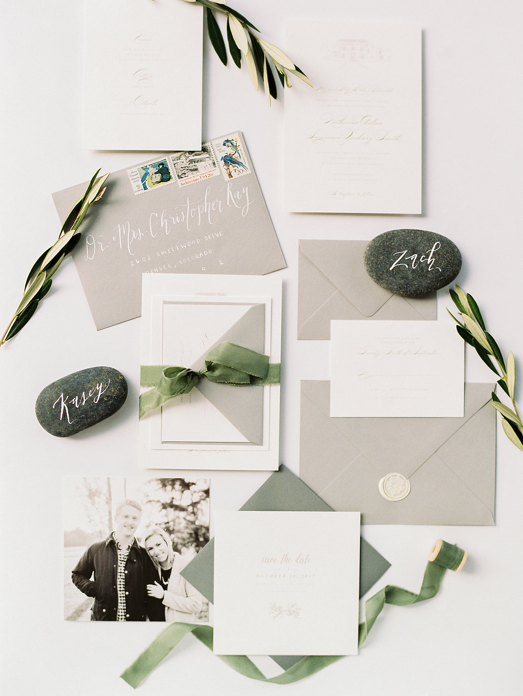 Invitation Suite Flat Lay Styling