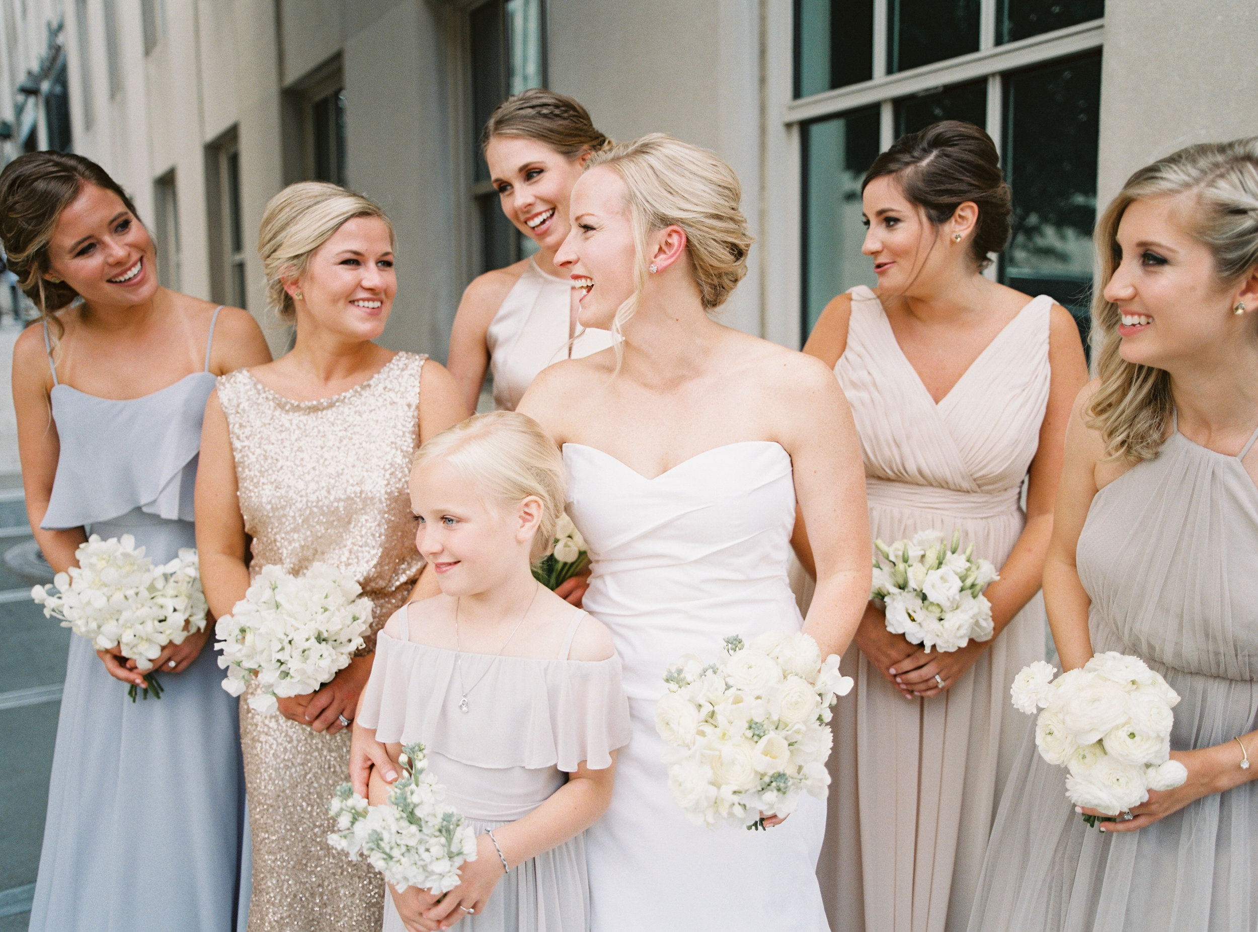 Kaitlin and her bridal party were such a cheerful (and beautiful!) bunch |  Heather Beerman Photography