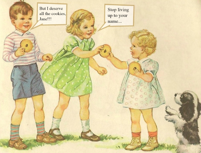 Image via  in pastel/Flickr ; Modified by Maximum Middle Age / illustration of Dick and Jane