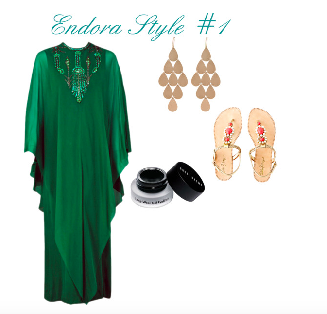 Images: Dress: 1st Dibs , Earrings:  Marissa Collections , Sandals:  Lilly Pulitzer , Eyeliner:  Bobbi Brown