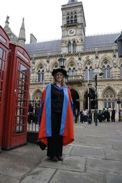 Image:  BIRTHE JORGENSEN /  Author's graduation CEREMONY in northhampton, UK
