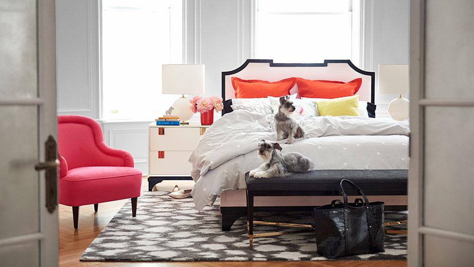 Kate Spade Master Bedroom