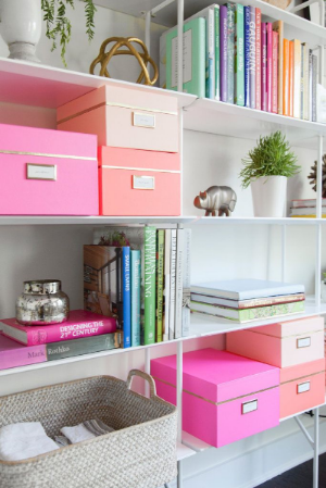 Storage can be beautiful !  credit - Popsugar