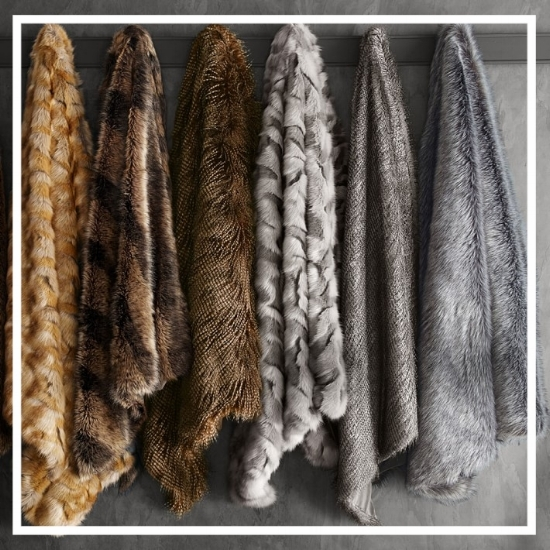 Cozy up with a warm throw. These throws from the Faux Fur collection at Williams and Sonoma Home are soft and add texture to the home.