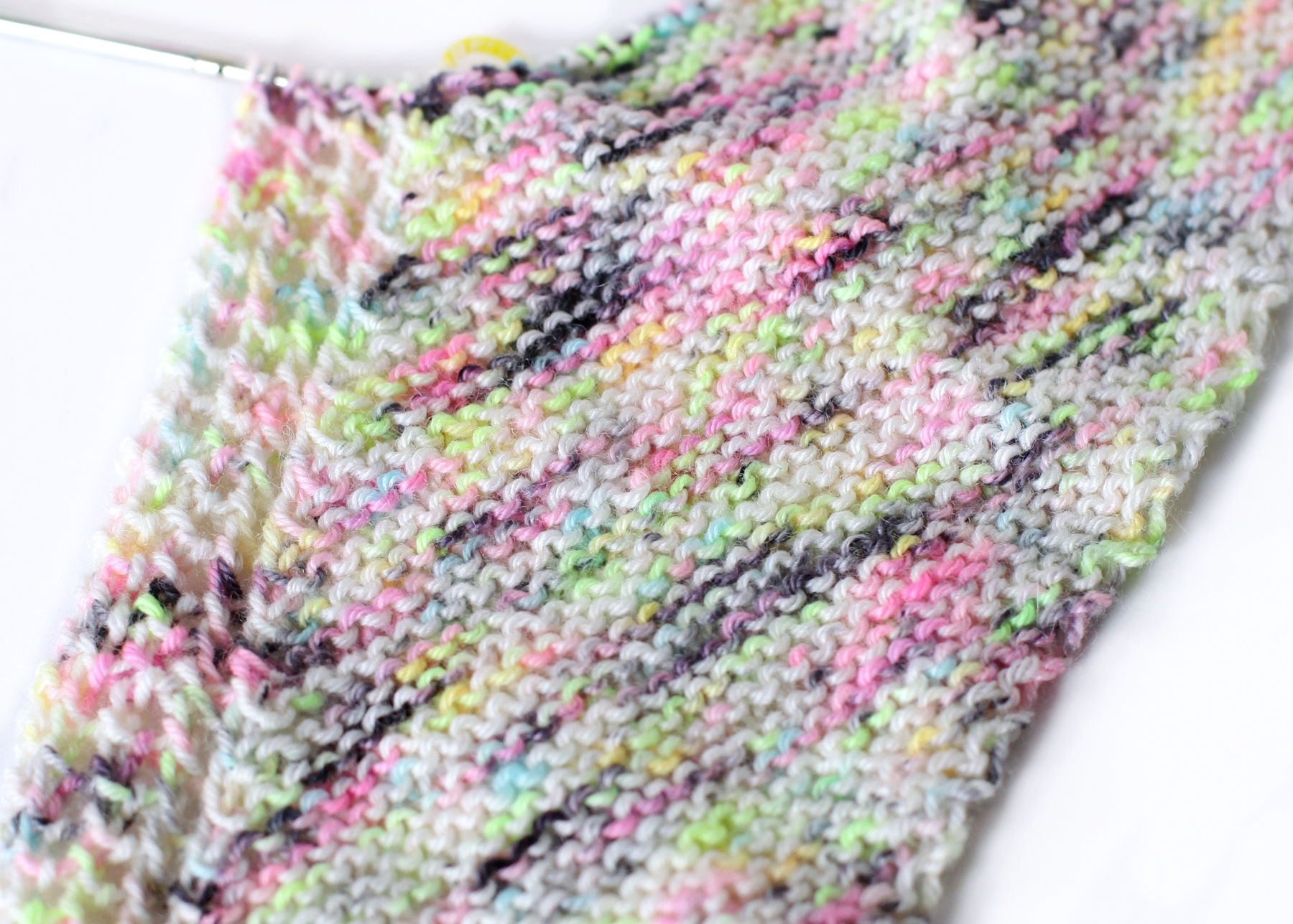 And...yes, I am using sock yarns to knit yet another scarf. Here's FIZZ BANG in my WIP Trillian scarf