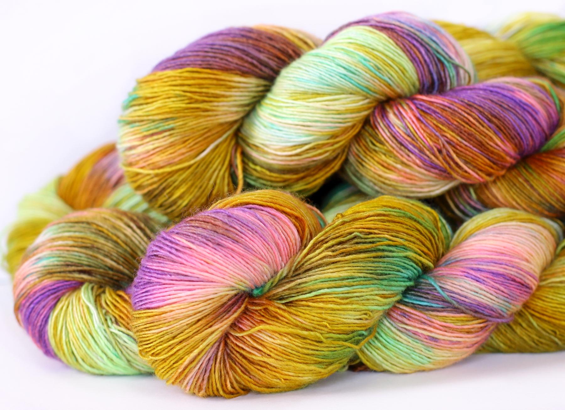 BRONZED BUTTERFLY, on my Lustre Sock yarn base. A high twist merino/silk, 438 yards.