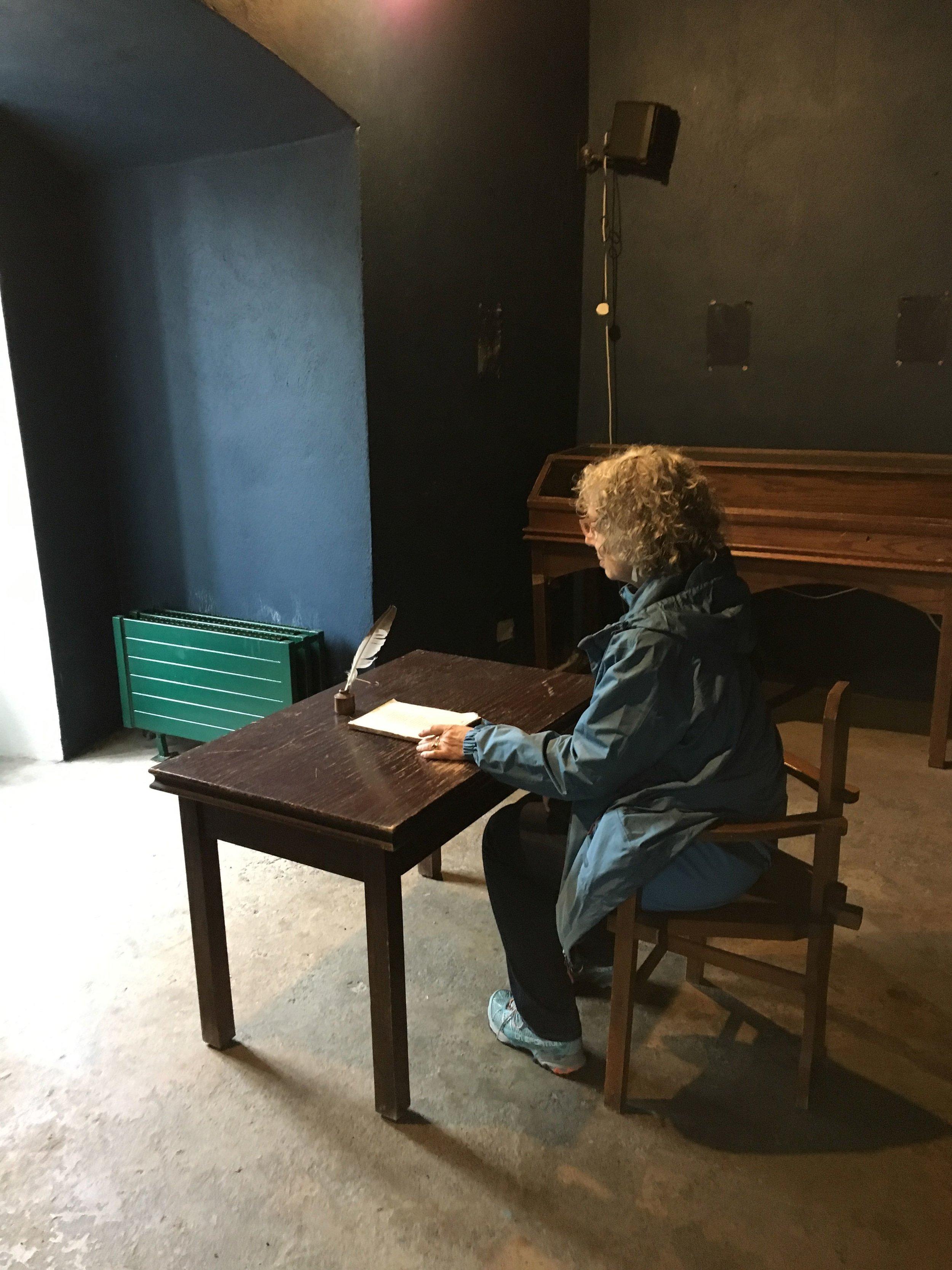 Elyn at Yeats' writing desk.