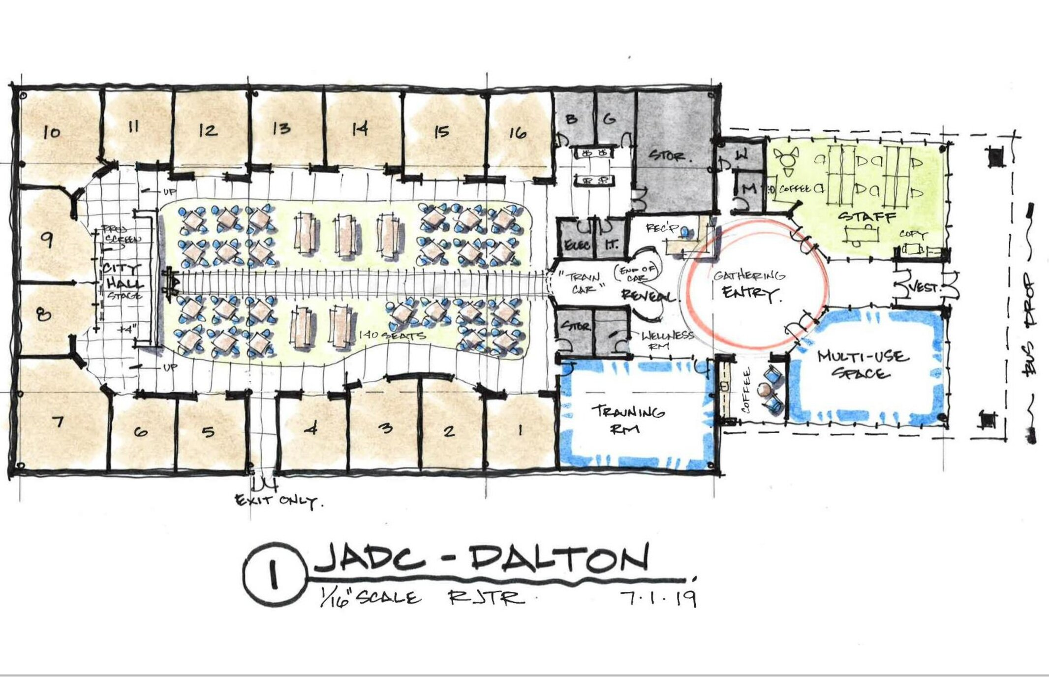 Floor plan for the JA Discovery Center of Greater Dalton