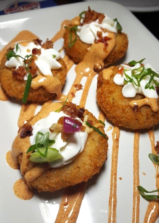 Potato Cakes at Bubba Gump Shrimps Co.