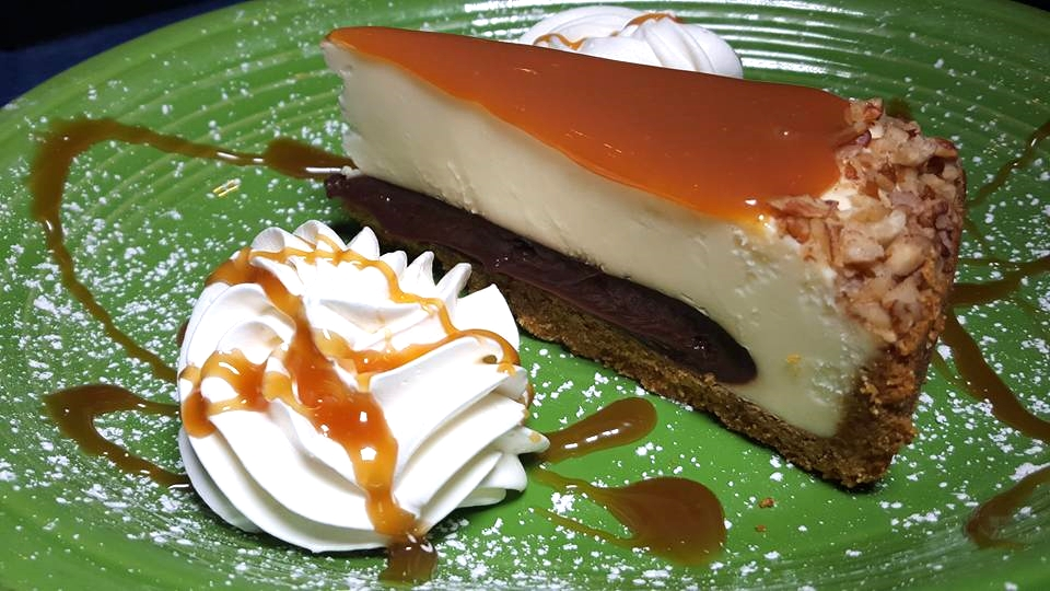 Turtle Cheesecake at Fire + ICE Grill