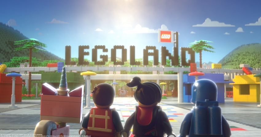 The  LEGO ® Movie 4D A New Adventure teaser.  Photo Credit: Legoland