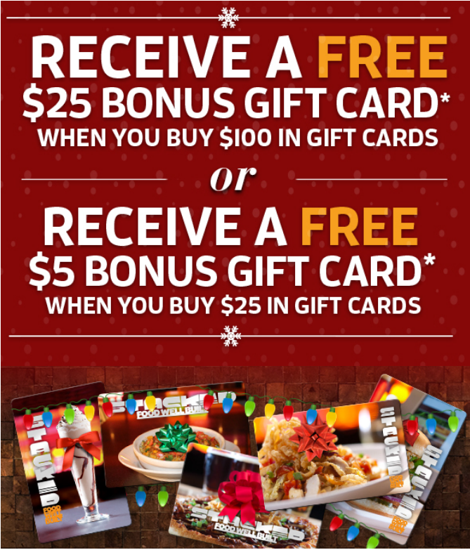 Stacked Gift Cards