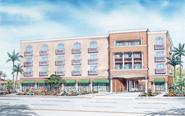 Rendering of the Hotel Facade. Photo Credit: Grand Legacy at the Park