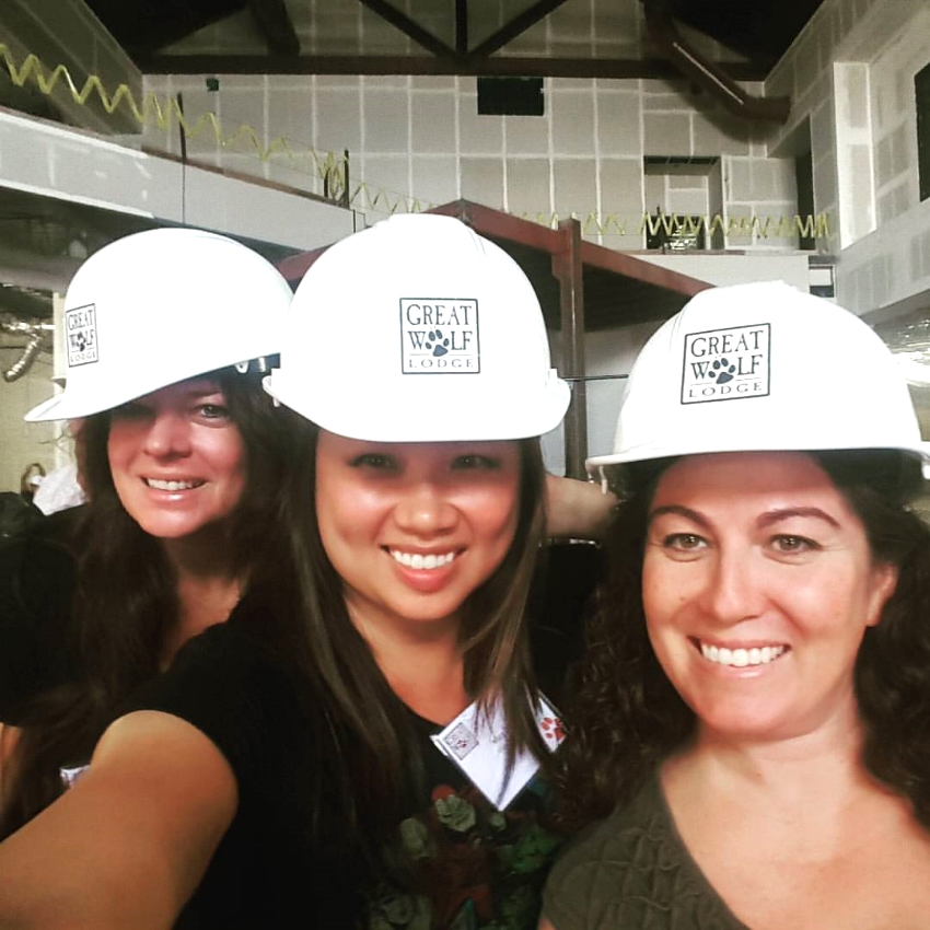 On the hardhat Tour in September , getting the grand tour. Photo Credit:  Let's Play OC