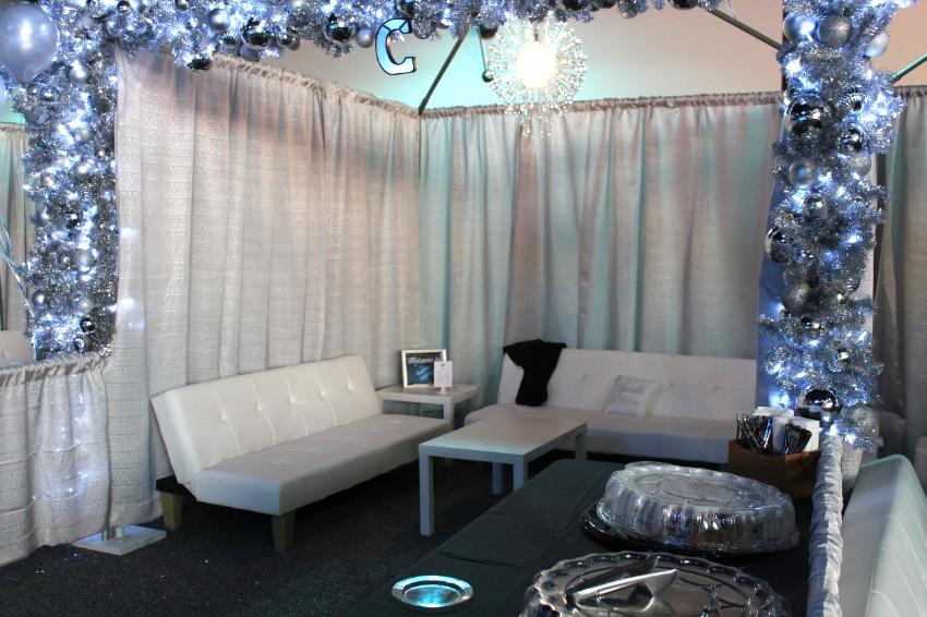 Rink side cabanas for rent.
