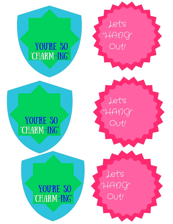 Printer Friendly Charm Card Printables For Valentines Day