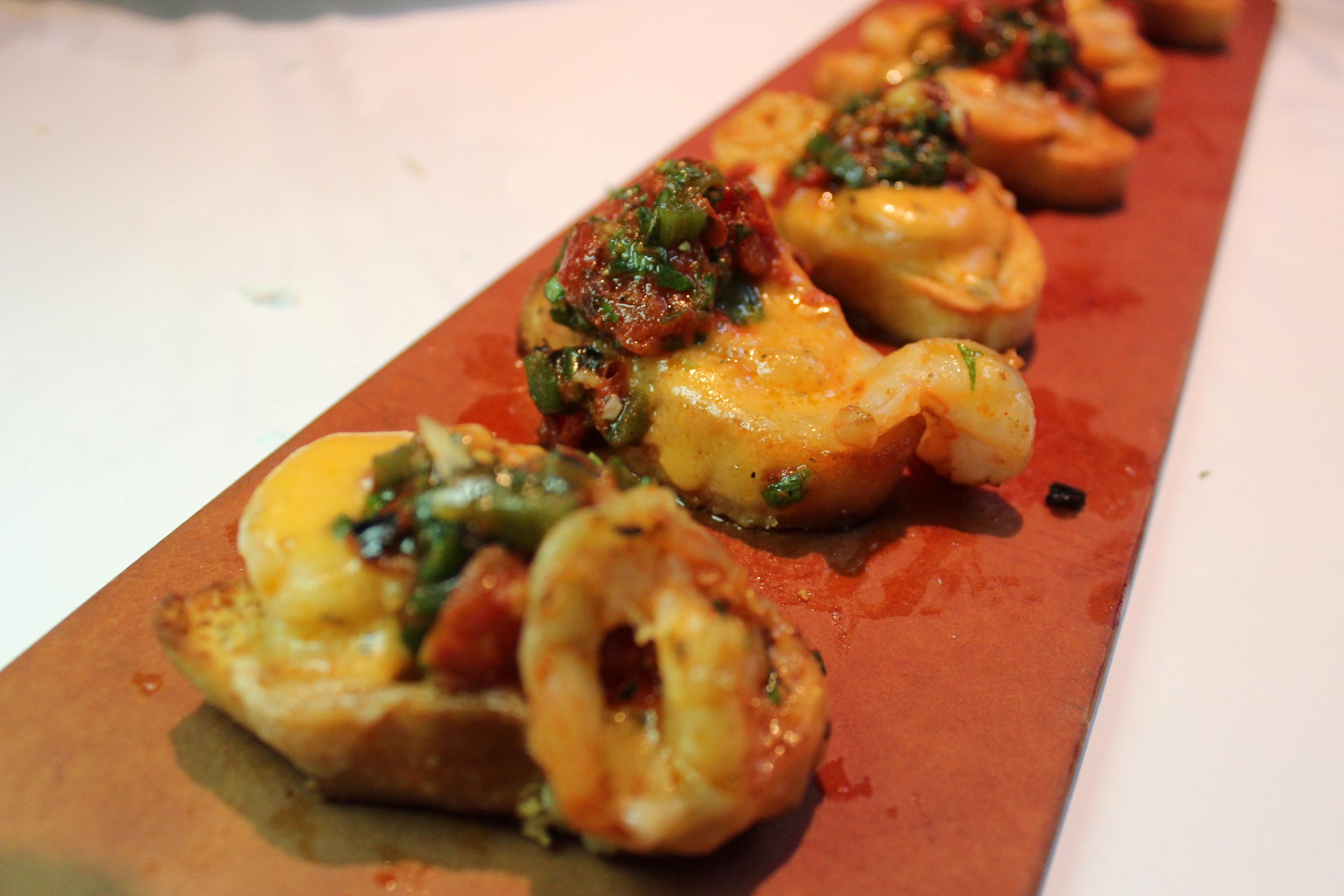Spicy Shrimp Bruschetta