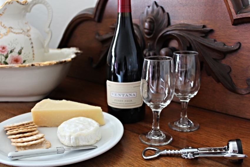 Our lovely wine and cheese welcome upon our arrival. Cheese from   The Cheese Shop