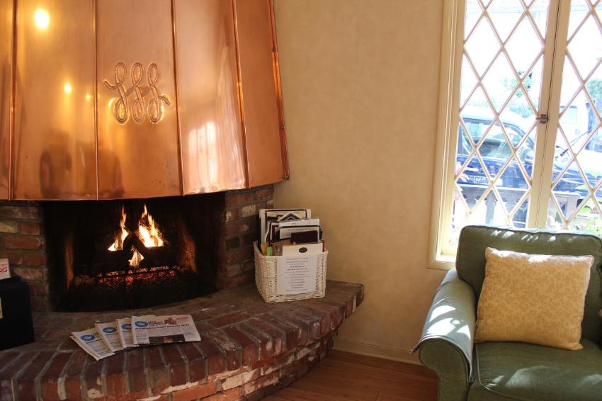 Enjoy a light continental breakfast fireside in the lobby