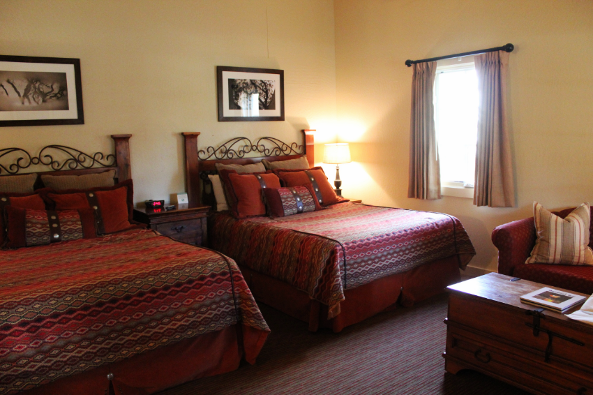 Accommodations are very comfortable and well appointed with custom accents