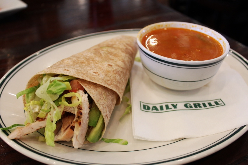 Cobb Wrap & Soup of the Day on the 600 Menu
