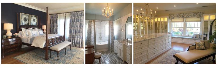 Master Bedroom, Her Bath and the Dressing Room Photo Credit:Ederra Design Studio