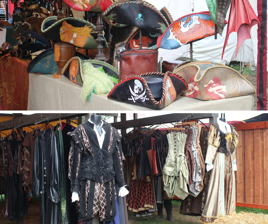 A sample of the wares for sale at the faire's marketplace.