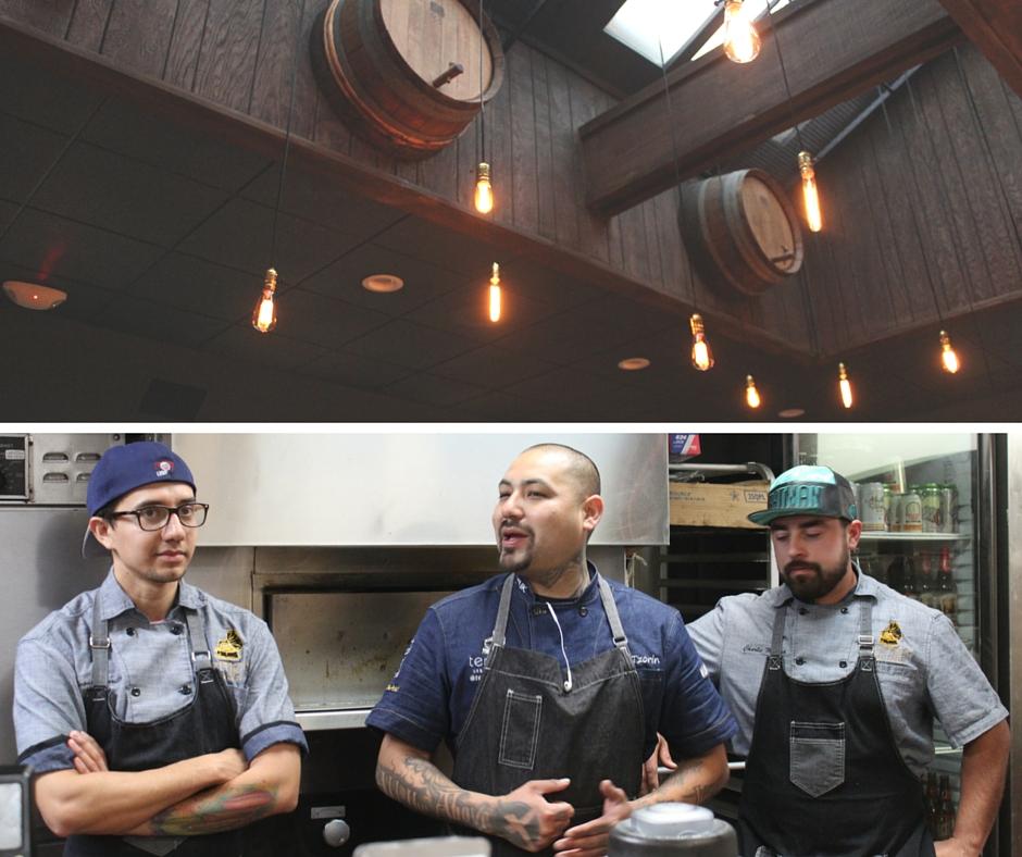 From left to right: Chef Salvador Carrillo, Chef Chris Tzorin and Chef Jorge Cueva Estrella