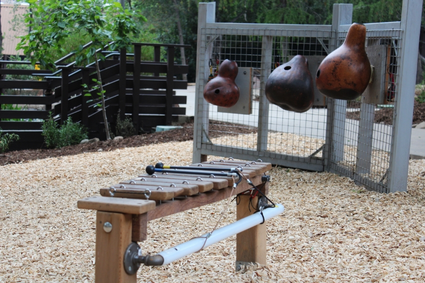 Pepper Tree Music Jam area is filled with several musical instruments