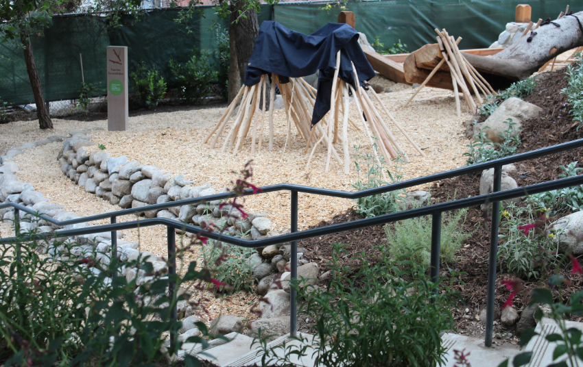 The native plants and use of natural materials makes for a pleasant walk with many areas to sit.