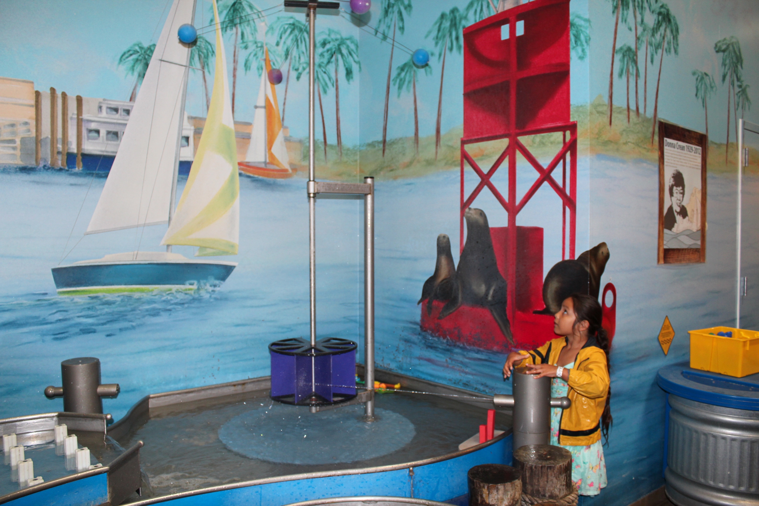 Marina area at Pretend City: Build a boat, go fishing and more!
