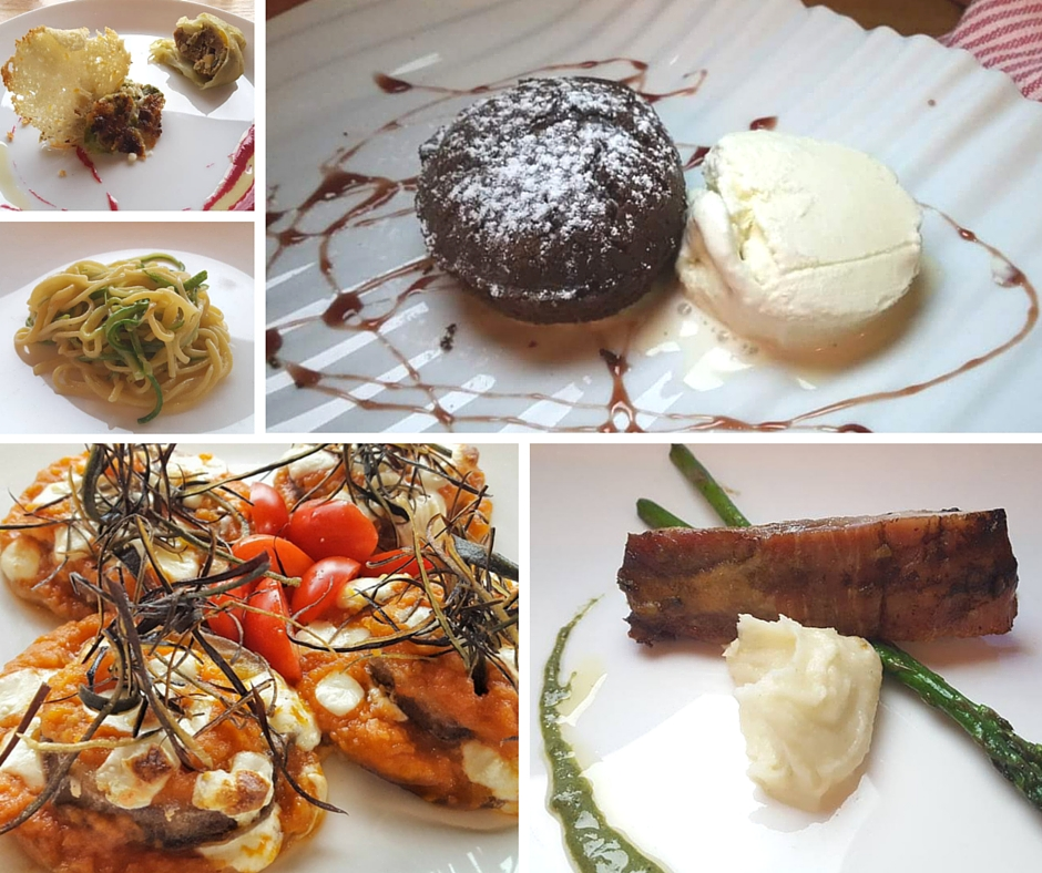 5 of the 10 courses we experienced at Restaurante Tre Galline, reservations a must!