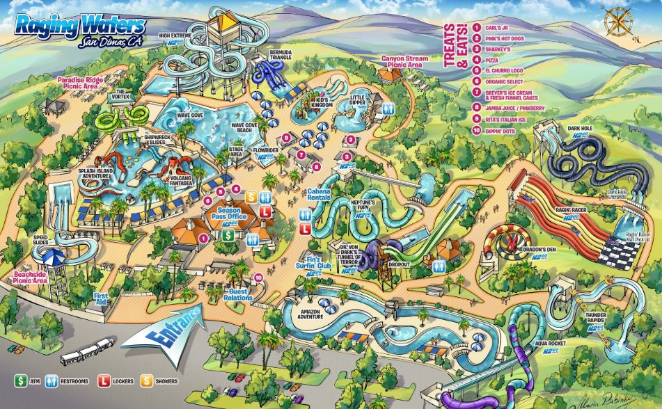 Raging Waters, California's Largest Water Park