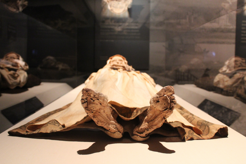 One of a family of three on display,Michael,Johannes and Veronica Orlovits from Vác,Hungary. Their story is an incredibly interesting one from their life and the discovery of their bodies.
