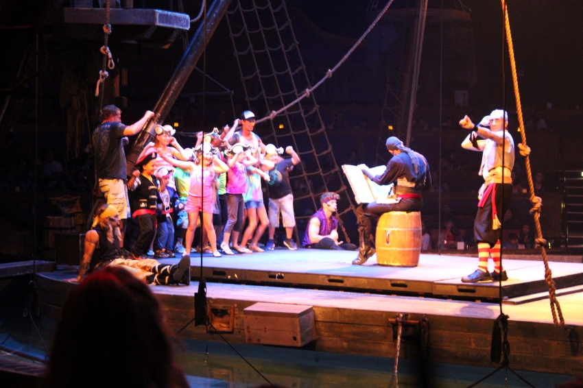 Poor unsuspecting audience members, wonder who will have to walk the plank.