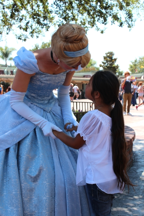 Chance run in with Cinderella, strolling meet and greets work best for us.