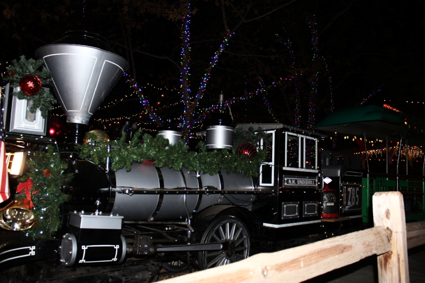 Irvine park train all decked out for the holidays