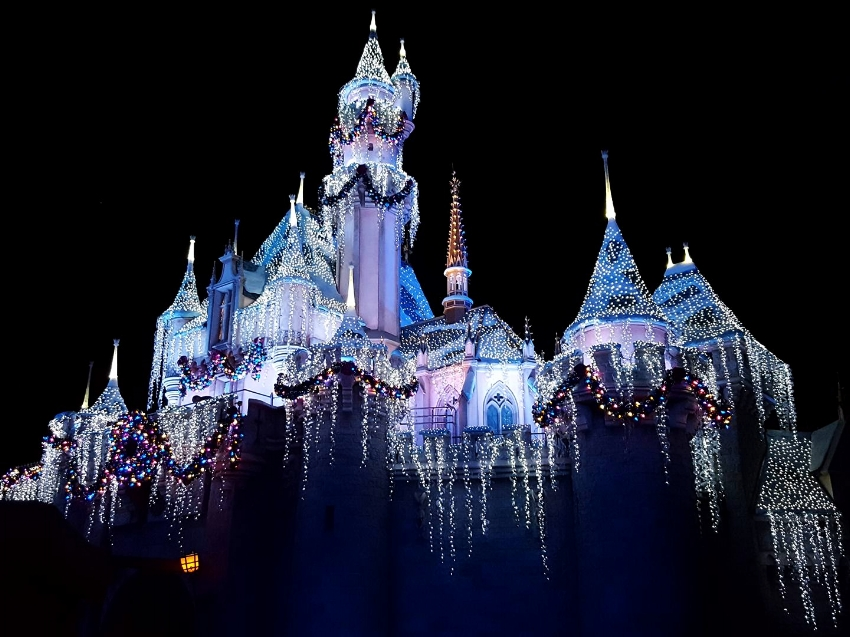 Sleeping Beauty's Castle is amazing all lite up at night and the lighting show before the Believe In the Magic Fireworks Spectacular is breath taking, check for times.