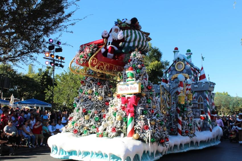 A Christmas Fantasy Parade check for times via the official Disneyland APP