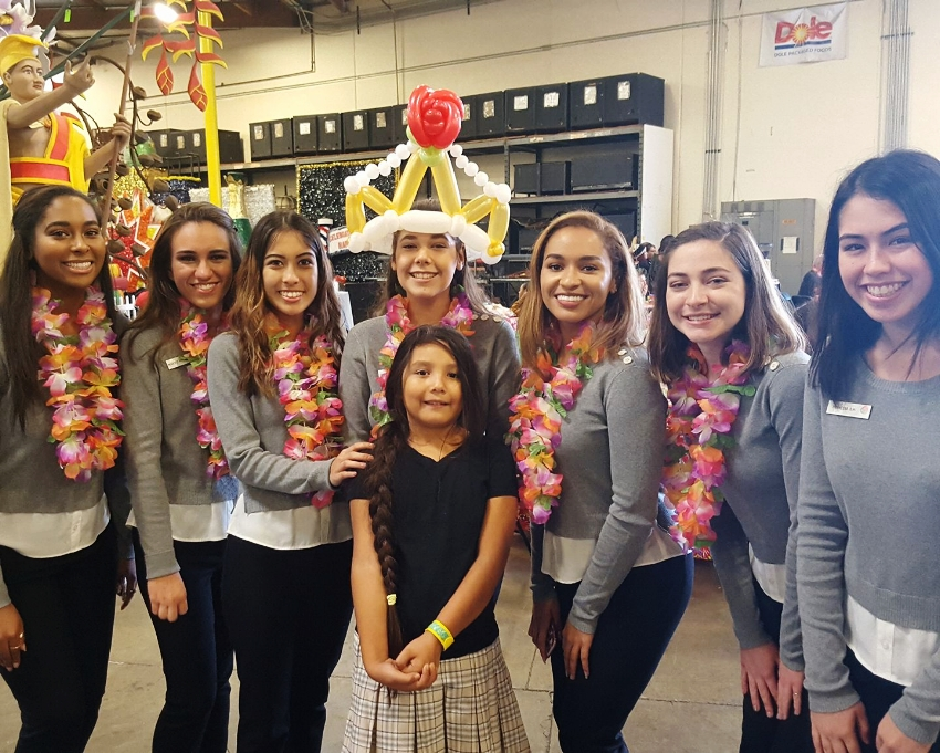 The 2017 Rose Parade Royal Court got in on the fun as well.