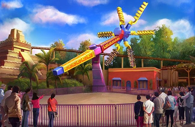 Artsit rendering of Sol Spin via Knott's Berry Farm Website