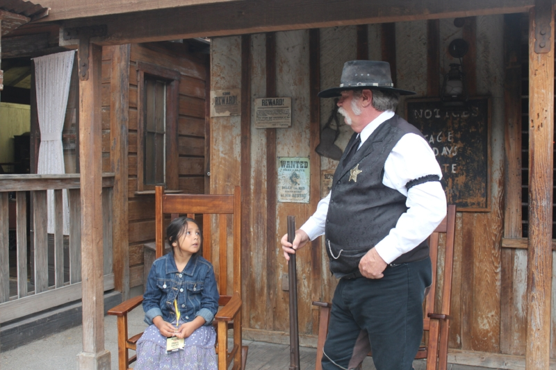 Shooting the breeze with the Sheriff Ghost Town Alive!
