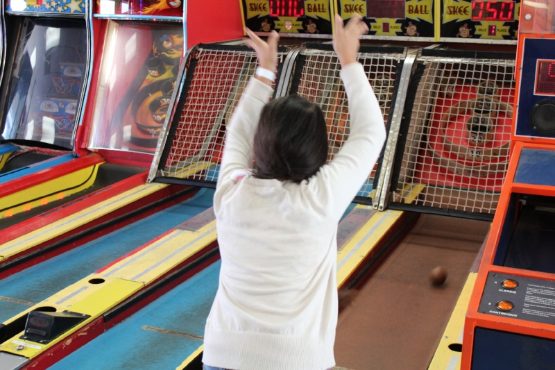 Skee Ball, gotta love the old school games! Win tickets to exchange for a prize.
