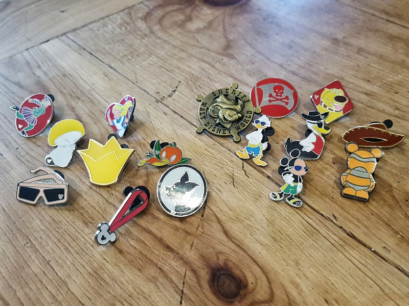 Many of these pins are hidden Mickey's.