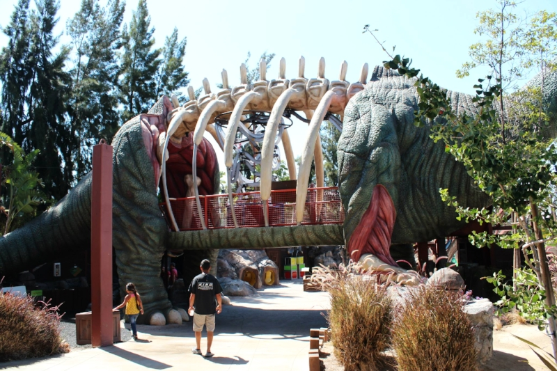 Dino Quest offers a a scavenger quest of sorts, interactive play and a great way to participate in team work while exploring this outdoor area of the OC Cube.