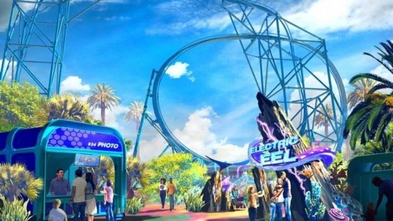 Artist rendering of Electric Eel roller coaster. (Rendering Courtesy of SeaWorld San Diego)