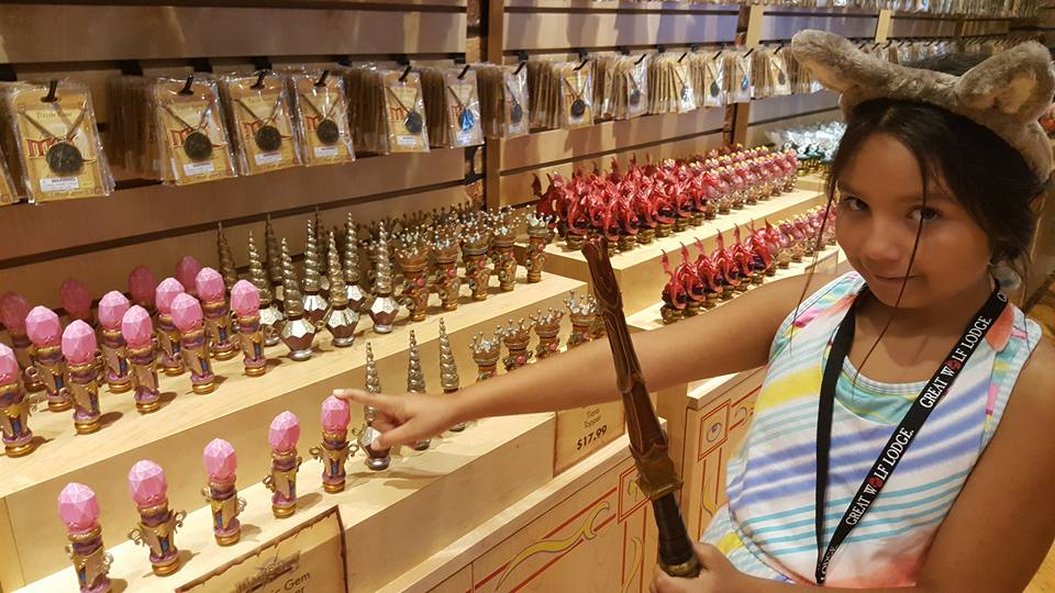 Picking out the perfect wand topper to start on our MagiQuest!