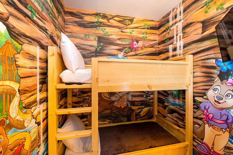 """What kids wouldn't want to """"Bunk"""" down in this cozy den?"""