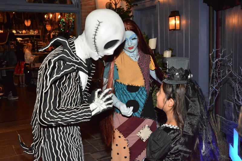 Jack and Sally Meet N Greet in New Orleans Square, get there early, the wait can get frightfully long!